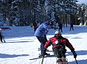 Me (in the red jacket) resting between skiing runs at Silver Creek Ski Area, Snowshoe, West Virginia, February 2006.